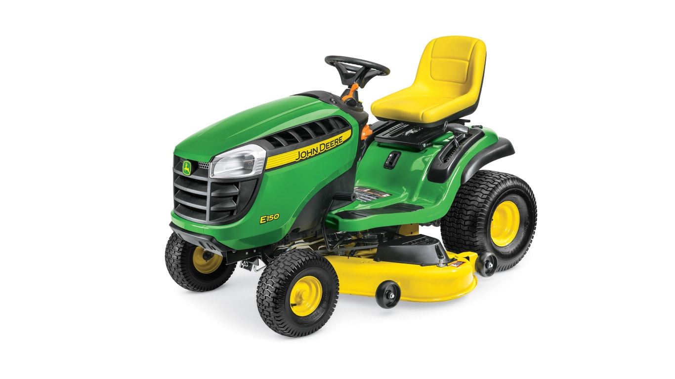 John Deere 100 Series >> E150 Lawn Tractor - New E100 Series - Howard Johnson Inc
