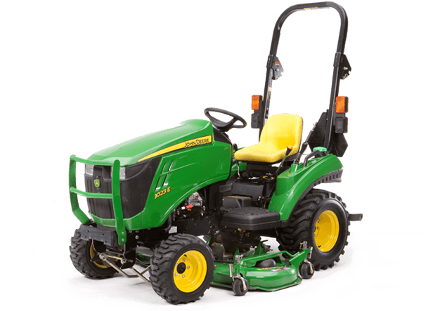 John Deere 1023E with 54D mowing deck from Meade Tractor