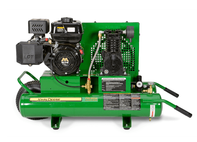 PR1-8GM 8-Gallon, Twin-Tank, Single-Stage Air Compressor