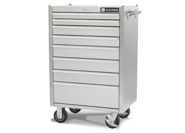 AC-2600TC-B 26-in., 8-Drawer Stainless Steel Tool Cabinet